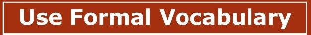 IELTS Formal Vocabulary